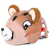 HZ Crazy helmet Casco Infantil, para Ni?os de 3-6 y 7-13 A?os para Ciclismo Infantil Protección de Bicicleta o Skateboards para Deportes Y Juegos Al Aire Libre