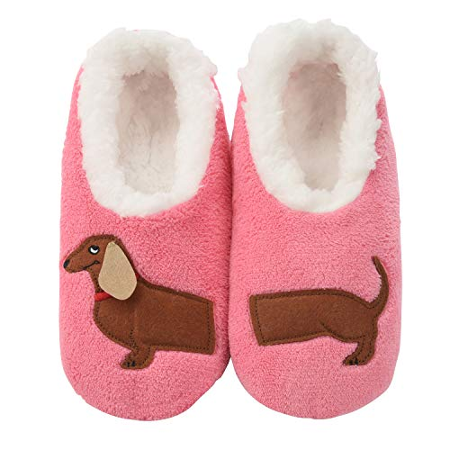 Snoozies Pairables Womens Slippers - House Slippers - Dachshund - Large