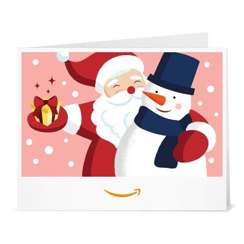 Buono Regalo Amazon.it - Stampa - Babbo Natale e pupazzo di neve