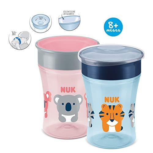 NUK Magic Cup Trinklernbecher, 360° Trinkrand, auslaufsicher abdichtende Silikonscheibe, 230ml, BPA-frei, Design nicht frei wählbar, 1 von 3 möglichen Motiven - 3