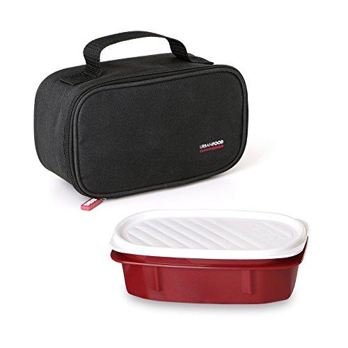 Tatay Urban Food Mini bolsa térmica porta alimentos con fiambrera incluida, Negro, 21.5 x 9 x 12 cm