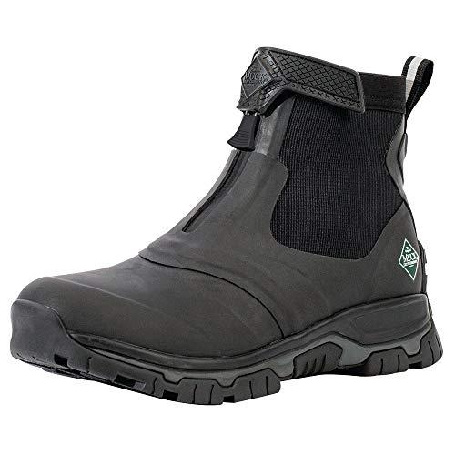 Muck Boots Apex Mid Zip, Botas de Lluvia Hombre, Black/Dark Shadow, 47 1/3 EU