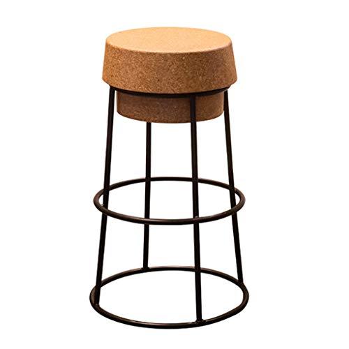 Tabourets de bar Tabourets de bar noirs Tabouret design créatif Chaise de bar en fer forgé à la réception (taille : 65cm)