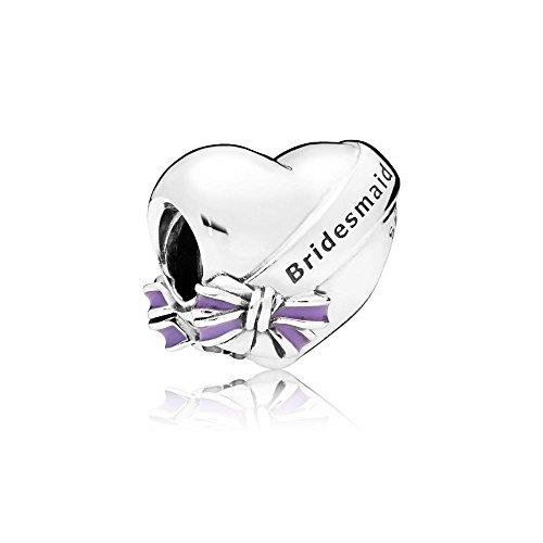 Pandora Moments Best Bridesmaid Damen Bead Charm 925 Sterlingsilber 11 x 12 mm