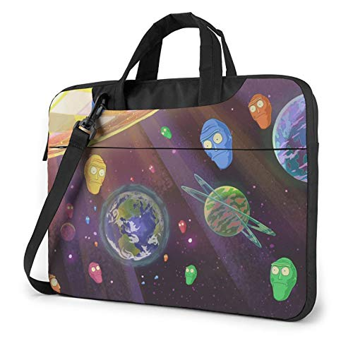 Get Schwifty Rick And Morty Laptop Shoulder Messenger Bag Briefcase Protective Carrying Cover Handbag Black 13 Inch 14 Inch 15.6 Inch Computer