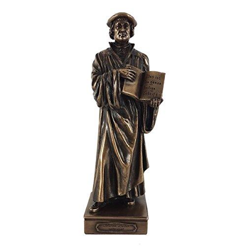 Figur Martin Luther Reformator in Bronzeoptik
