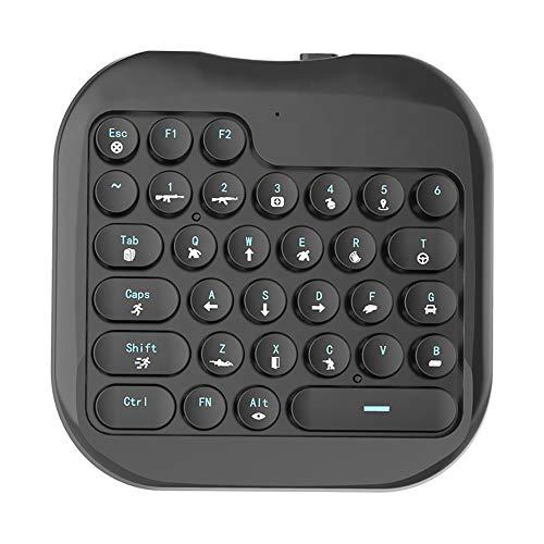 HYDDG Mechanische Gaming-Tastatur, kabellos, Gaming-Tastatur und Maus-Controller, Skill-Tastatur, Einhand-Thron, Mobile Spiele King Eat Chicken RGB-Hintergrundbeleuchtung, tragbar, Mini