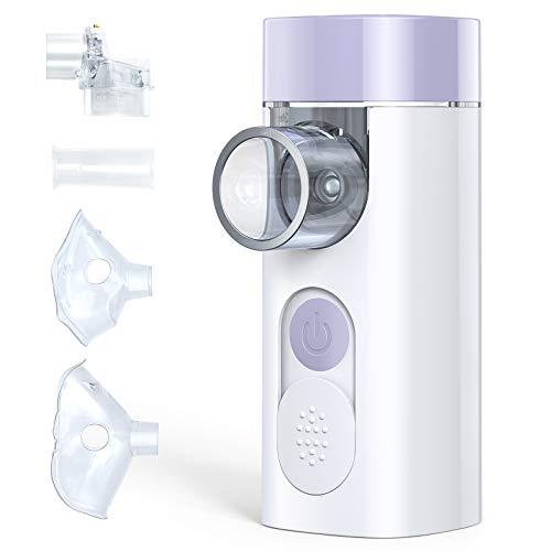 Vernebler Inhalator HYLOGY, Tragbar Inhalationsgerät Nebuliser Inhalator mit Mundstück für Kinder und Erwachsene, Ultraschall für Atemwegserkrankungen, Asthma, Husten Wirksam