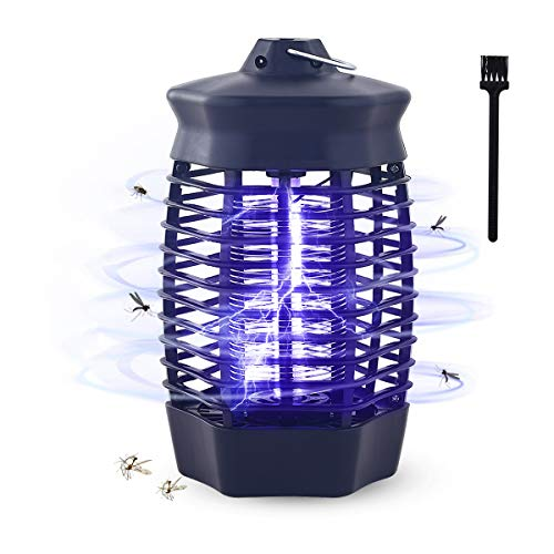 Qxmcov Lampe Anti-Moustique 360°UV Piège à Moustiques Intéri