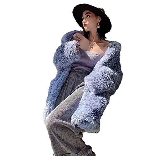 Abrigo de Piel sintética Mujer Casual Furry Grueso Cálido