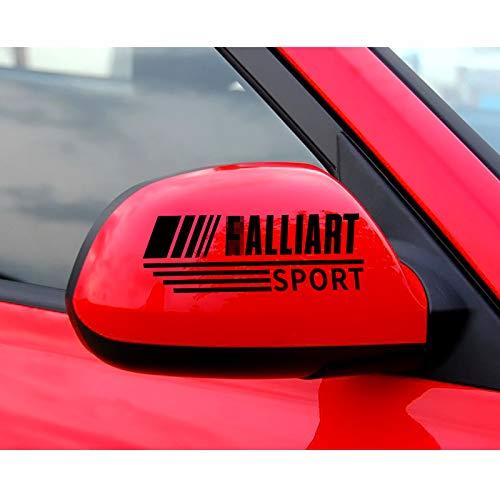 MYlnb Pegatinas de Espejo retrovisor de Coche para Mitsubishi Ralliart Lancer EX ASX Colt Competition Delica Eclipse Evolution X Galant Outlander