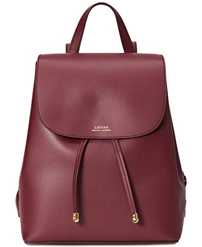 Ralph Lauren Dryden Flap Leather Backpack, Red
