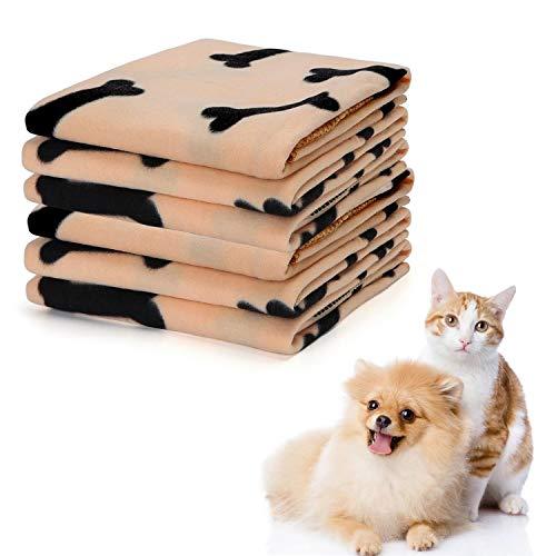 Nobleza - 6 x Hundedecke Weiche Fleecedecke Waschbare Deck für Haustier Hunde Katzen Welpen Weiche Warme Matte,75 * 75cm