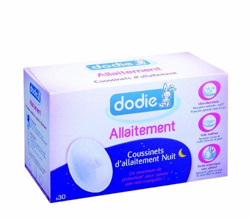 Dodie Coussinets d'Allaitement Nuit avec Adhésif - 30 Pièces