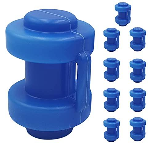 Tosenpo Tapas para Trampolín, Ø25 mm Azul Juego de 8 Tapas para Postes de Red para Trampolín