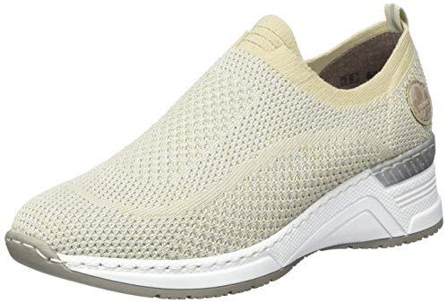 Rieker Damen Frühjahr/Sommer N4374 Sneaker, Beige (Stone/Ice 64), 40 EU