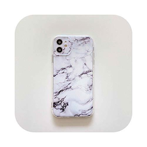 Carcasa para iPhone 12, diseño de mármol para iPhone XR 11 12 Mini Pro Max 7 X XS Max 8 Plus Funda Silicona 6-for iPhone 12 Mini