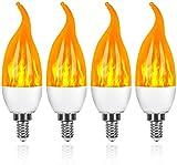 4 Stück Flamme Glühbirne, Swonuk...