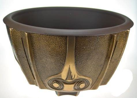 Art-Odlew Grabschale Medingen aus Bronze preisgünstig, D=34cm H=18cm 11,5 Kg