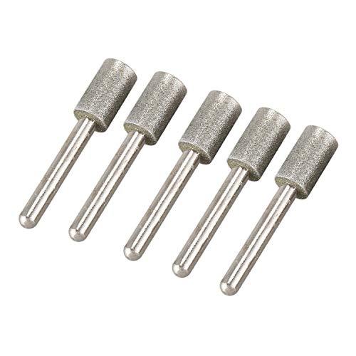 YeBetter 6 mm Schaft 12 mm Zylinderkopf Diamant Schleifstifte 5 Stueck