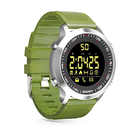 ZRSJ Reloj Inteligente EX18 Podómetro Impermeable Bluetooth ...