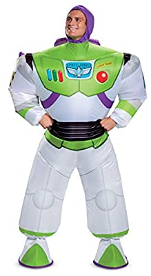 Disguise Men's Disney Buzz Lightyear Inflatable Toy Story 4 Costume, White, One Size Adult from Disguise