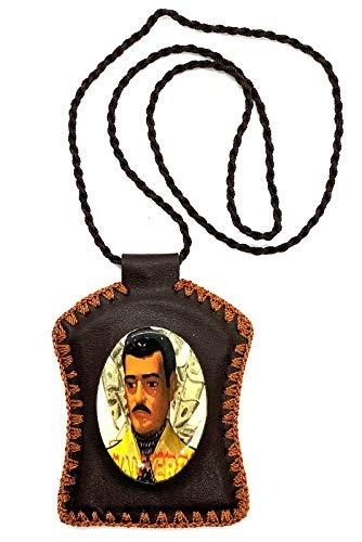 Paradise_Shopping Jesus Malverde Leather Necklace Escapulario
