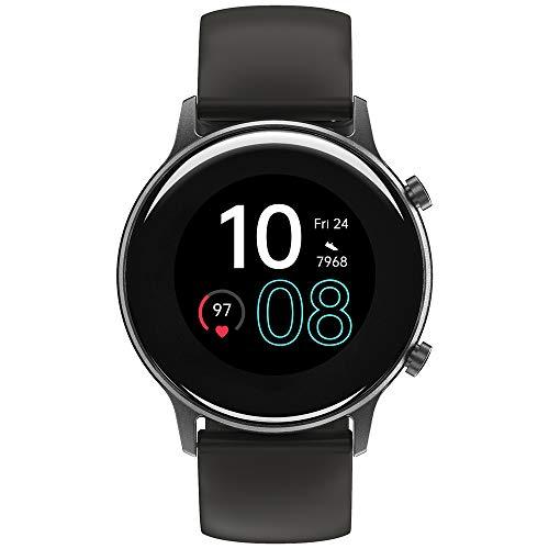 Smartwatch UMIDIGI Urun, rastreador de atividades GPS integrado para mulheres e homens, rastreador de atividades com monitor de oxigênio no sangue e monitor de frequência cardíaca, pedômetro à prova d'água de 5 ATM para iPhone e Android (Cinza Espacial)