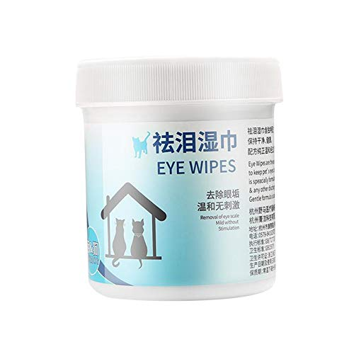 #N/a 100 unidades de toallitas para los ojos de mascotas, removedor de manchas de perro y gato, almohadillas naturales para eliminar manchas de Ojos de