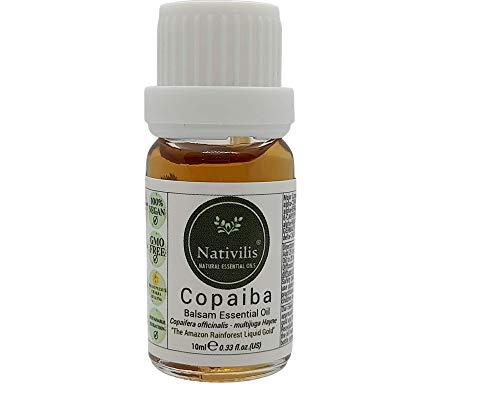 Colgante y collar con difusor solar de plexo + aceite esencial de Nativilis Copaiba, set de regalo de 10 ml