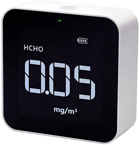 Temtop M10 Monitor de Calidad del Aire Interior, Control de Calidad de Ambiente de su Hogar, Detector Prueba Precisa de PM2.5, HCHO, TVOC, AQI, Medidor de Calidad del Aire portátil【No para CO2】