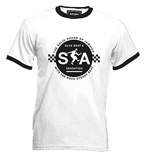 Blue Beat and Ska Sensation T-shirt for Men, S to 3XL