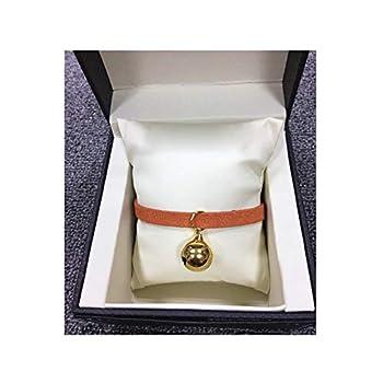 AMDXD Laisse de Chien avec Harnais Orange Rouge Alliage Harnais Laisses Set pour Chien Colliers Cloche L