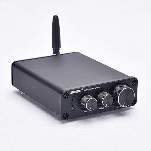 Mini Bluetooth 5.0 Amplificador de 50W x 2 de alta fidelidad de audio estéreo de subwoofer de alta potencia amplificador digital Clase 2 canal de amplificación integrada D para el hogar Altavoces