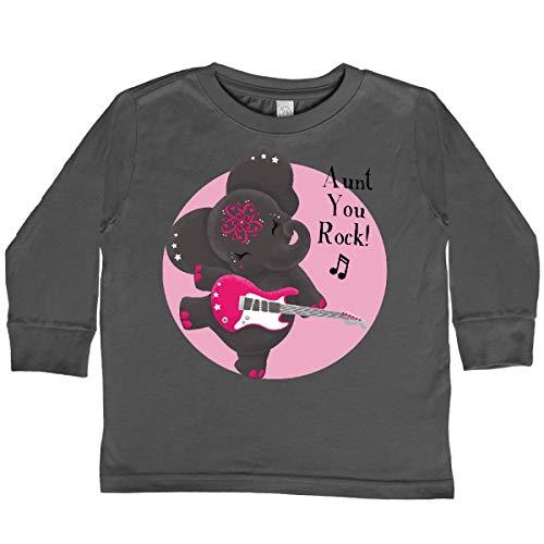 inktastic Harmony Toddler Long Sleeve T-Shirt 3T Charcoal - Tiny Tusks 2d32c