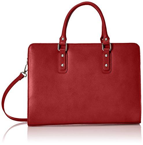 Chicca Borse - Bolso de mano Mujer, Rojo (Rosso), 36 cm