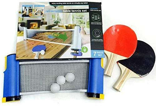 WUKONG99 Tragbares Tischtennis-Set, Familienspiel, Tischtennis-Set mit einziehbarem Netz, Tischtennisplatte für Reisen oder Zuhause