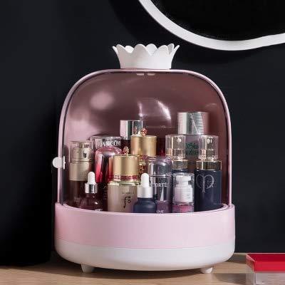 MUY Caja de cosméticos de acrílico de Doble Puerta, Gran Capacidad, Organizador de cosméticos, joyería, Estuche de Maquillaje portátil a Prueba de Agua, Cajas de Almacenamiento de Escritorio