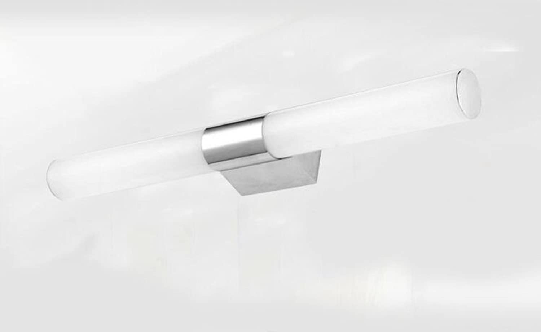 Miaoge Spiegel-Front-Lampe modern simple Edelstahl LED Nebellicht Bad Bad-Lichter 46cm 10W