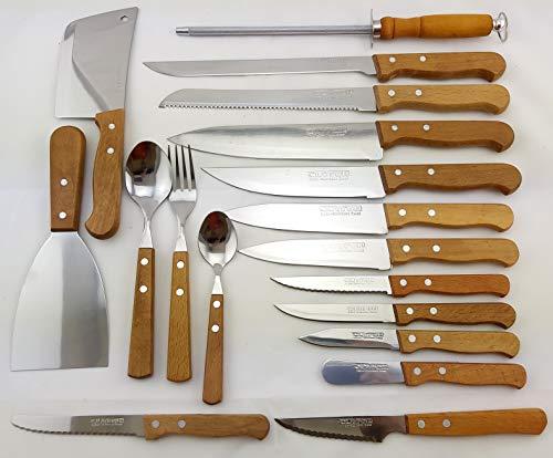 CUYFOR (QUTTIN) Conjunto Cuchillos Cocina Set 22 UD Natura