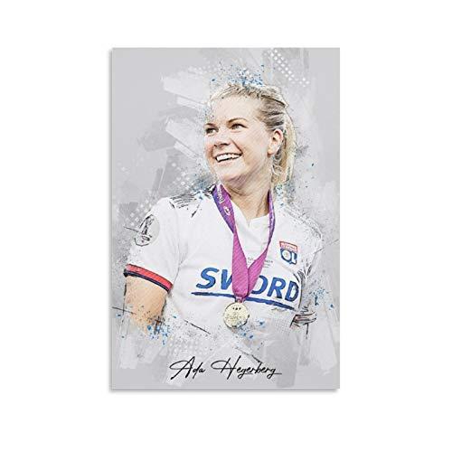 Preisvergleich Produktbild WSXDD Ada Hegerberg Poster Fußball Bild Wanddekoration Leinwand Kunstdruck für Büros Wohnzimmer Zuhause Geschenk für Jungen Mann 30 x 45 cm