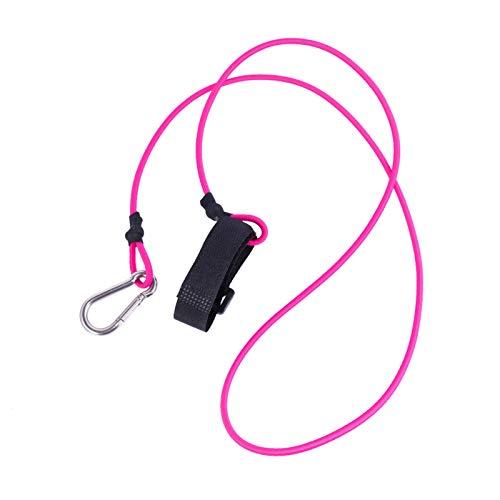 WEARRR Elastische Kayak-Kanu-Sicherheitsleine Angelrute-Lanyard-Werkzeug-Paddel-Leine-Zubehör-Kayak-Paddel-Leine (Color : Rose)