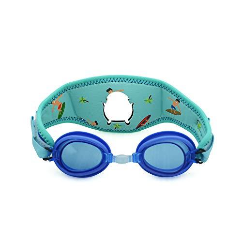 Cheekaaboo Booggles Kids Adjustable Swim Goggles for 2-5yrs Old,Anti Fog,UV Protection-Surfers