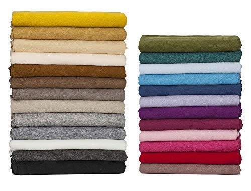 Jersey suave, tejido cepillado con purpurina de punto, fotografía de bebé de 26 colores, telón de fondo, confección de vestidos, Mango de terciopelo mohair, Neotrims. Baby Blue, Half Metre