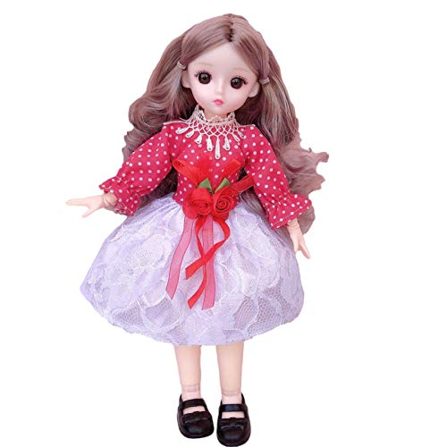 3D Doll Princess with Movable Joints Safe and Durable Toy Gift Real Fashion Doll