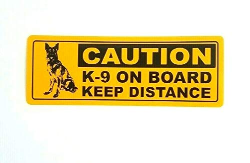 Hachi Auto 4 pcs x K9 On Board Keep Distance Printed Warning Label Sticker Decal