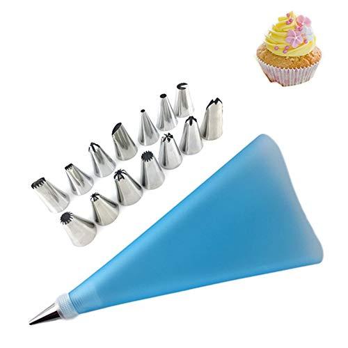 Xinllm Utensilios Reposteria Y Pasteleria Kit Reposteria Utensilios de Cocina Conjunto Pastel de Equipos Pastel Equipo para Hornear Hornear Cosas Blue,16PCS