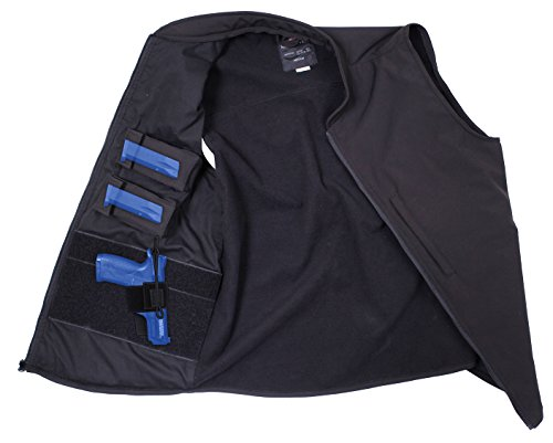 Rothco Concealed Carry Soft Shell Vest, Black, Large