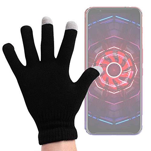 DURAGADGET Guantes Negros para Pantalla Táctil para Smartphone Nubia Red Magic 3, Doogee Y8, Elephone A6 Mini - Talla Grande - ¡Ideales para El Invierno!