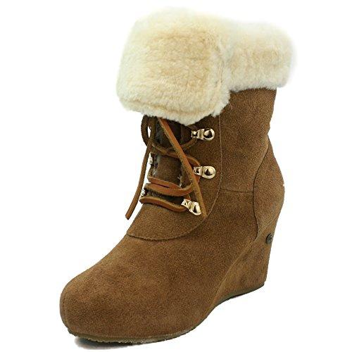 [Kingdom of Sheepskin] KOS Miss V Low チェスナット ウィメンズ オーストラリアの羊皮毛ブーツ 4 US